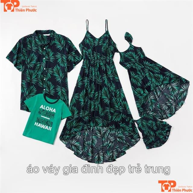 áo váy gia đình trẻ trung