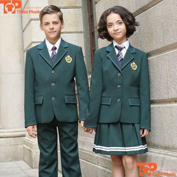 Áo vest đồng phục học sinh may sẵn