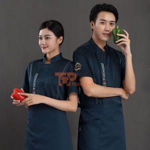 đồng phục bán hàng màu xanh đen