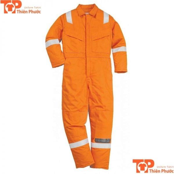 đồng phục bảo hộ lao động màu cam