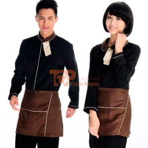 đồng phục cho nhân viên bán hàng màu nâu đen