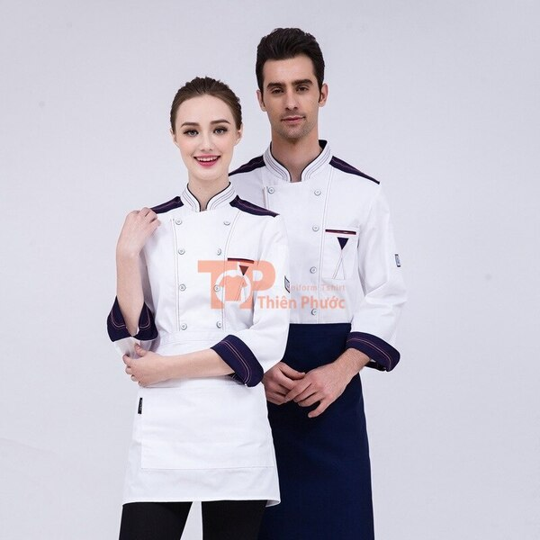 đồng phục cho nhân viên bán hàng màu trắng tay dài