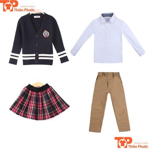 Đồng phục học sinh cấp 3 nam nữ trường tư thục