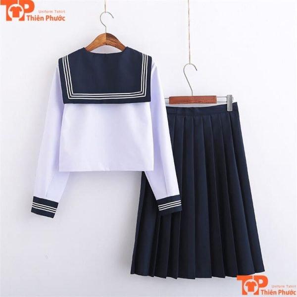 Đồng phục học sinh nữ cấp 2 váy dài