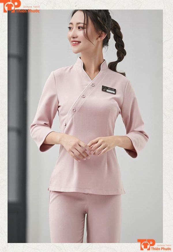 đồng phục spa vải cotton chất lượng