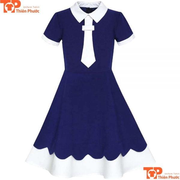 Váy đồng phục học sinh cấp 2 màu xanh dương