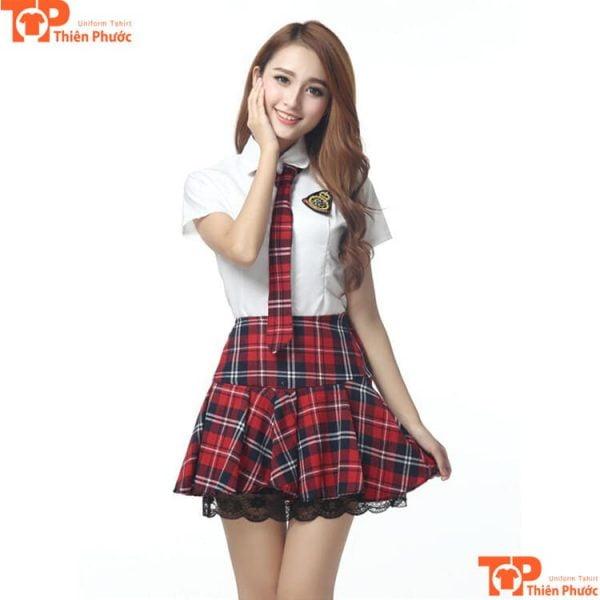 Váy đồng phục học sinh trung học phổ thông tphcm
