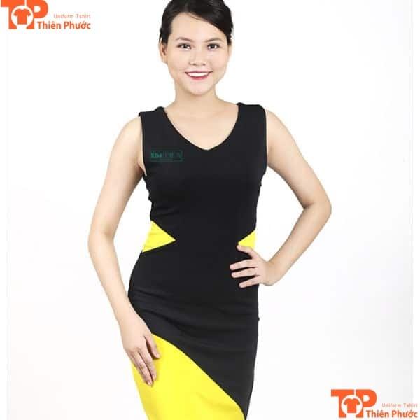 váy đồng phục pg tay ngắn