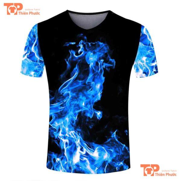 áo lớp 3d ngọn lửa bí ẩn