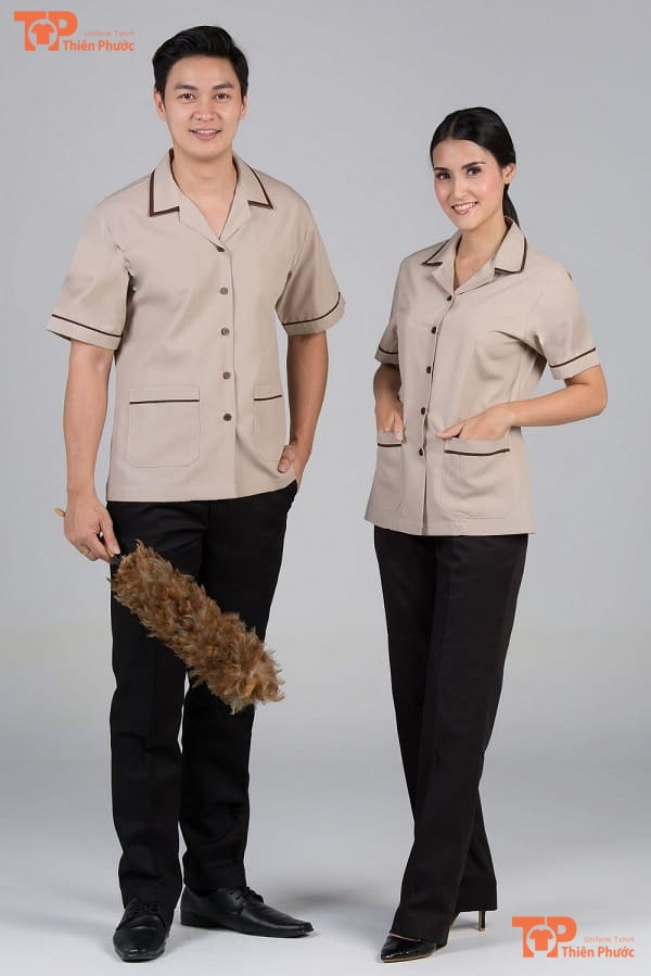 đồng phục tạp vụ khách sạn mẫu 04