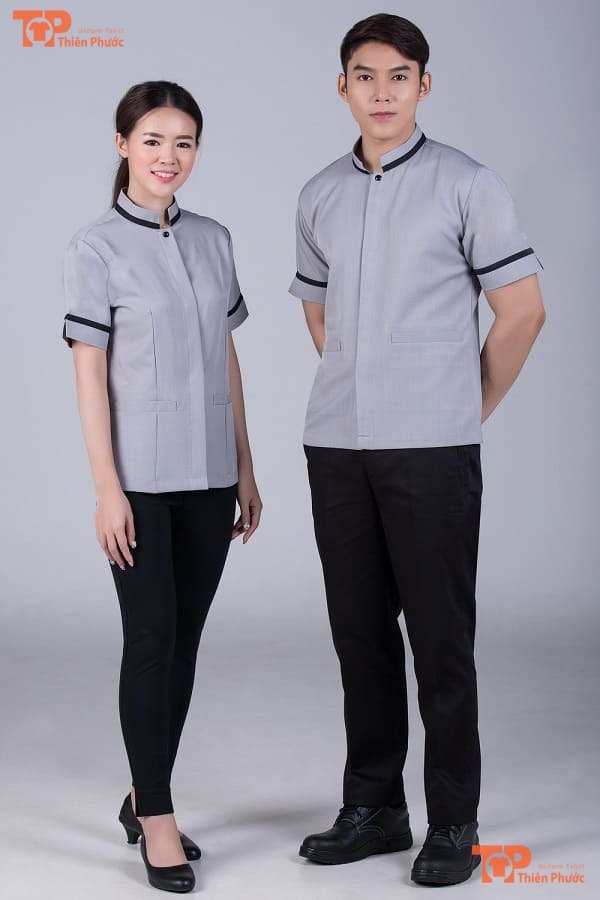 đồng phục tạp vụ khách sạn mẫu 05