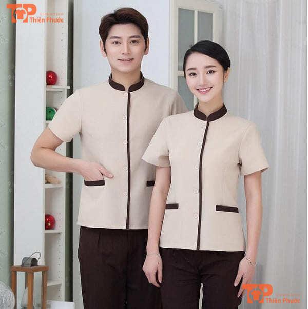 đồng phục tạp vụ khách sạn mẫu 07