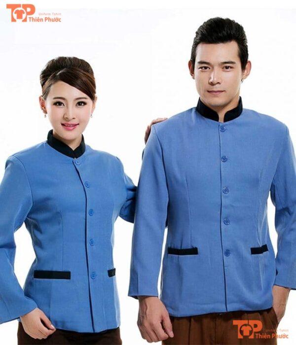 đồng phục tạp vụ ngân hàng mẫu 01