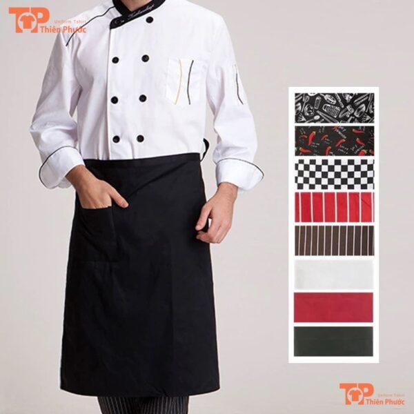 tạp dề đồng phục đầu bếp