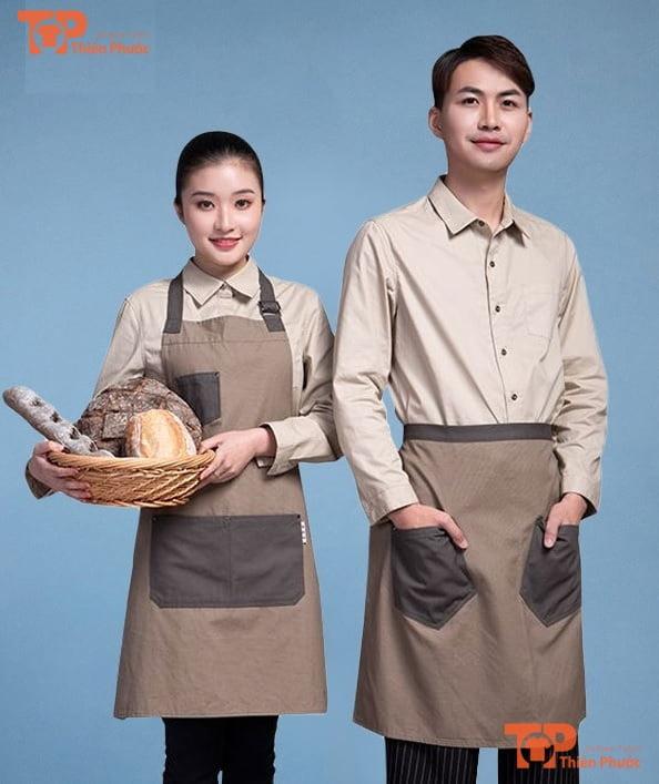 tạp dề phục vụ nhà hàng mẫu 01
