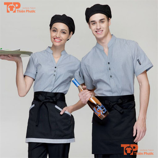 tạp dề phục vụ nhà hàng mẫu 04
