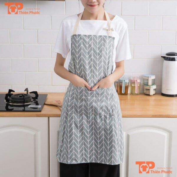 tạp dề vải canvas cho nhà bếp