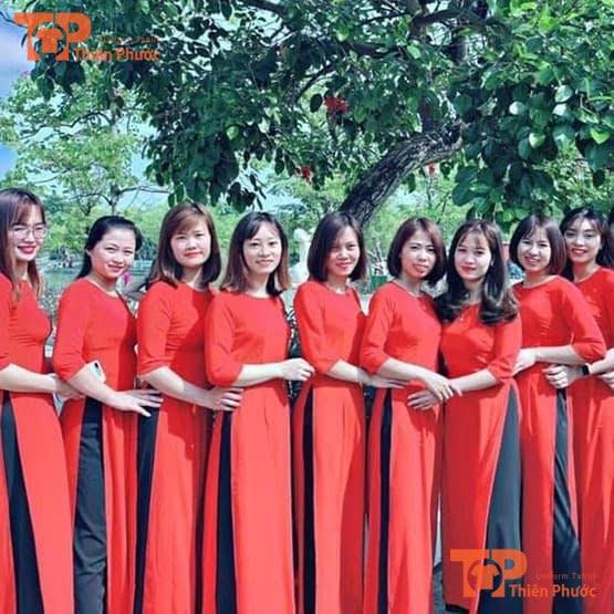 áo dài đồng phục giáo viên mầm non