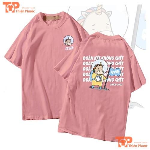 áo lớp oversize cổ tròn màu hồng A12