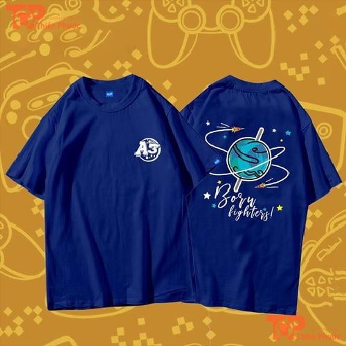 áo lớp oversize màu xanh A3