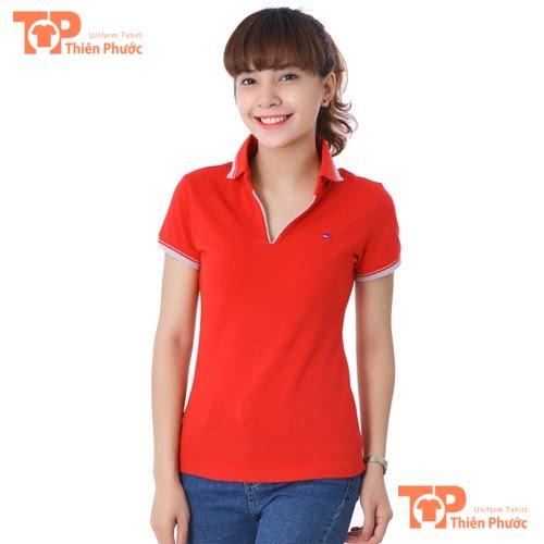 áo thun đồng phục giáo viên mầm non màu đỏ
