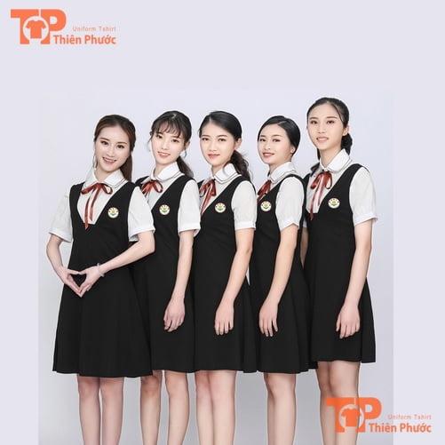 váy đồng phục giáo viên mầm non